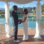 lake shore gazebo wedding